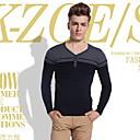 algodón de moda de prendas de punto con cuello en V de los hombres delgado tony