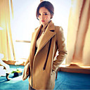 Womens Fashion Winter All Match Tweed Coat