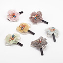 1pc perla coreana y pasador flor (color al azar)