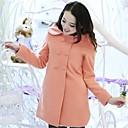 abrigo de lino coreano de las mujeres soho