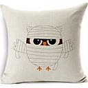Banding Owl Cotton/Linen Decorative Pillow Cover