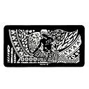 1pcs diseños elegantes del arte del clavo imagen bricolaje sello estampado placas plantilla manicura # 19