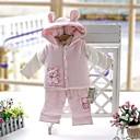 algodón del muchacho acolchado traje de tres piezas con capucha desmontable