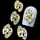 10pcs  Golden Eye 3D Alloy Rhinestone Nail Art Decoration