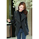 JYS Women's Long Sleeve Slim Fashion Lapel Neck Causual Temperament Tweed Overcoats