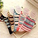 ZHUOSHANG Womens Warm The Diamond Lattice Male Rabbit Wool Socks  A002 Stripe Snow Random Color