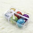 conjunto de 6 adornos de navidad bola de navidad con la luna y de estrella multicolor, plástico