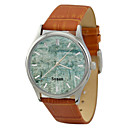 Personalized JUST2YOU Citizen Movement Green Background Pattern  Watch  in Steel  Case
