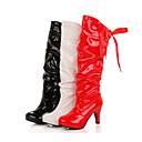 color sólido de las mujeres Feicai todas las botas largas de los partidos