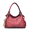 Women PU Barrel Shoulder Bag / Tote - Red