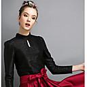 de manga larga de color sólido camisa gruesa de la moda de las mujeres smqn