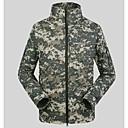 chaqueta de cáscara suave del collar del soporte al aire libre a prueba de agua ESDY deportes a prueba de viento