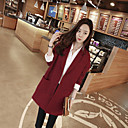 WILD CAT Women's Long Sleeve Loose Fit Lapel Neck Temperament Fashion Overcoats