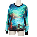 Weige azul galaxia suéter de impresión wy1019 de las mujeres