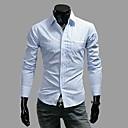 camisa de manga larga de la raya de los hombres saizhe