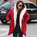 b32014 nueva causal de la moda de invierno abrigo largo de algodón delgado de Hitomi mujeres