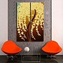 E-HOME Stretched Canvas Art Flower Decorative  Set of 2