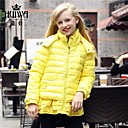 HUIWAGirls fashionlight Down  Cotton Padded /Down Coat with High Quality White Duck Down 4 colors options