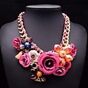 aleación de moda collar de cristal de la flor de la joyería de las mujeres jq