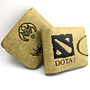 Online Game DotA Leather Wallet Cosplay Accessaries