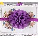 10pcs / niños establecidos tocado de flores de gasa pelo ondulado niños de la banda de los bebés headwear color al azar