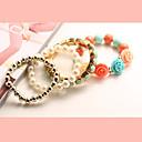 moda temperamento elegancia de diamantes de imitación pulsera de perlas flor gema as-k de la mujer