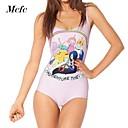Adventure Time mono de la impresión atractiva del bodycon vestido de baño de mcfcwomen desgaste superior de la señora caliente