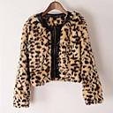 invierno 2014 abrigo de leopardo nueva causal de la manera de las mujeres Belon