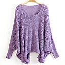 Womens Fashion Pierced Round Collar Batwing Sleeve Sweaters (More Colors)