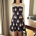 2014 nuevas mujeres de Xinfu ™ mujeres del vestido largo delgado vestido informal
