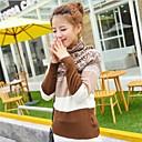 Womens High Collar Long Sleeve Knitting Sweater