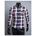 Brother New Simple Causal Check Shirt  9112(red,coffee,green)