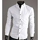 camisa de cuello alto delgado-guarnición de los hombres HD