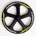 aurora 700c de carreras dropshipping 55mm ruedas de engranaje fijo de carbono 5 habló de ruedas clincher / rueda delantera