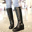 bajo talón plana botas altas de las mujeres zicqfurl