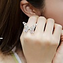 Womens Fashion Full of Diamond Bow Hollow Ring
