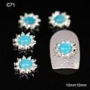 10pcs azul girasol aleación de la decoración del arte DIY accesorios de diamantes de imitación de uñas