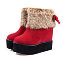 botas cortas de la moda de invierno de piel de espesor inferior M-5 de las mujeres chaw