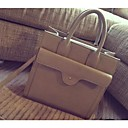 Womens Europe and the United States Pure PU Tote