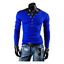 Brother New Slim V-neck Long Sleeve T-shirt  8702(light blue,dark blue)