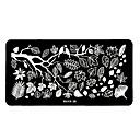 1pcs diseños elegantes del arte del clavo imagen bricolaje sello estampado placas plantilla manicura # 2