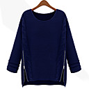 JYS Women's Long Sleeve Loose Fit Fashion Round Collar Causual Thicken Sweaters