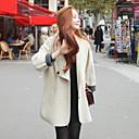 de manga larga abrigos de tweed solapa de la moda delgado temperamento cuello de las mujeres Muyan