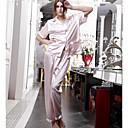 alto grado conjuntos de chándal de seda pijamas de las mujeres modelos femeninos Ibzán