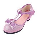 bombea los zapatos t-correa de tacón bajo / talones de los zapatos de la muchacha más colores disponibles