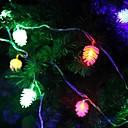 jiawen 4m 20leds rgb luces conos de pino de cuerda luz LED de cadena de la Navidad para la decoración (ac 110-220v)