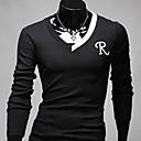 uamp;camisa de manga larga r palabra de moda del color del contraste ocasional de los hombres f