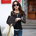 camisa de encaje de algodón modelo de coco zhang