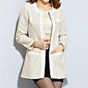 Jimei Womens Fashion Slim Tweed Coat