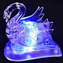 Flash de DIY 3D y cisne de cristal música ensamblar los bloques de construcción de juguete juego para los niños y la decoración del hogar (45 piezas)